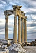Temple of Apollo in City of Side, Turkey Stock Photos