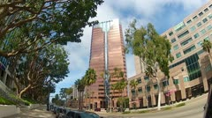 World Trade Center Building In Long Beach CA Stock Footage