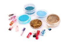 nail art glitters - stock photo
