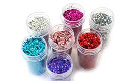 nail glitters - stock photo