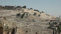 Mount of Olives Cemetery Stock Footage