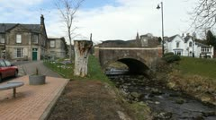 Bridge over Dollar burn, Dollar Clackmannanshire Scotland Stock Footage