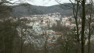 Stock Video Footage of view of the city of Karlovy Vary