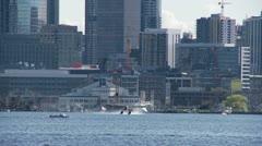 Seaplane takes off Stock Footage