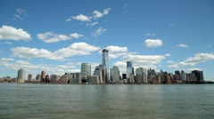 New York City skyline time-lapse freedom tower WTC Stock Footage