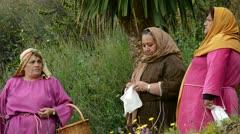 Hebrew women 2, theatrical representation of the biblical scene Stock Footage