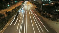 Oncoming Traffic Time-lapse Stock Footage