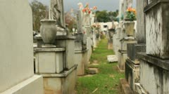 Real - vodoo witch spell in cemetery 4 Stock Footage