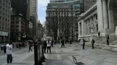 New York Public Library - Pan and Tilt 2 Stock Footage