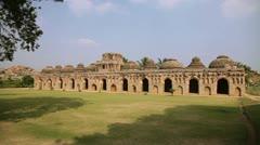India, Hampi, Vitala temple Stock Footage