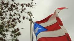 Free Mason symbol on flag pole Stock Footage