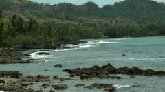 Rocky coastline on the island of Panay in Philippines Stock Footage