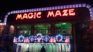 Arcade flashing lights maze Stock Footage