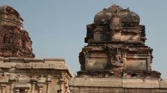 India, Hampi. Krishna Temple Stock Footage