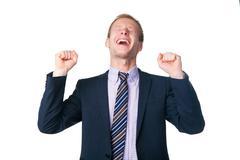 very happy handsome businessman - stock photo