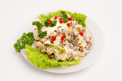 salad with mayonnaise - stock photo