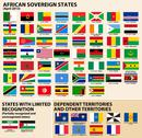 Stock Illustration of flags of african states