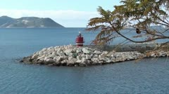 Lighthouse and a bough Stock Footage