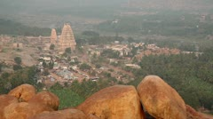 Hill top in Hampi Stock Footage