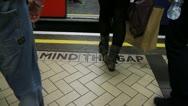 Mind the gap doors closing - HD Stock Footage