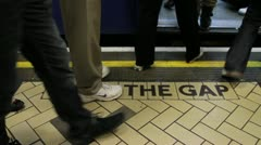 Mind the gap close - HD Stock Footage
