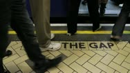 Stock Video Footage of mind the gap close - HD