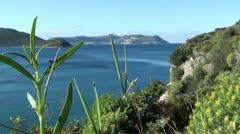 Mediterranean sea view Stock Footage