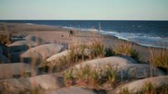 Ocean, beach and a car Stock Footage