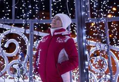 Christmas design. girl Stock Photos