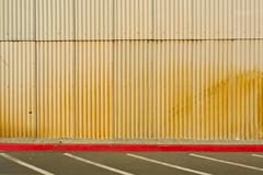 corrugated tin wall - stock photo