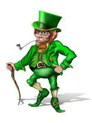 Cheeky leprechaun Stock Illustration