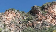 Tilt upwards a precipice Stock Footage