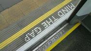 Mind the gap + doors closing - HD Stock Footage