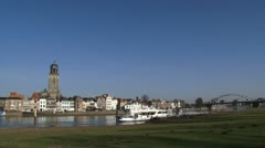 Skyline Deventer, The Netherlands + pan Stock Footage