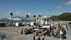 Market in Malaga, Spain Stock Footage