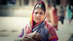 Old indian Woman - stock footage