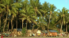 Housings on free land next to the ocean on panay island in Philippines Stock Footage