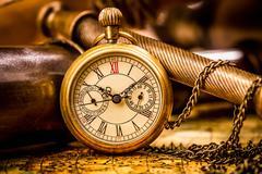 Antique pocket watch. Stock Photos