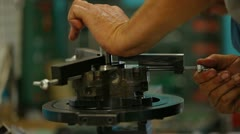 Pump Repairing Process Stock Footage