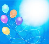 Background image and banners with colorful balloons.vector is eps.10 Stock Illustration