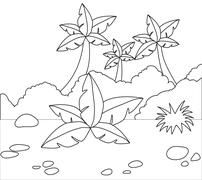 this is a  grass background .vector is eps10. - stock illustration