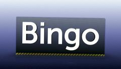 04 bingo blue text Stock Footage