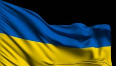 Flag of Ukraine Stock Footage
