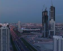 Dubai skyline, UAE Stock Footage
