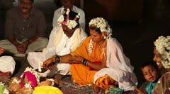 Traditional Indian wedding in Hampi Stock Footage