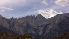 Mt Whitney 01 Timelapse Clouds California Stock Footage