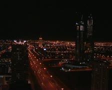 Dubai skyline at night, UAE Stock Footage