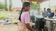 national cuisine of INDIA. - stock footage