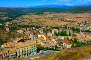 Stock Photo of view from a castle of cardona, spain