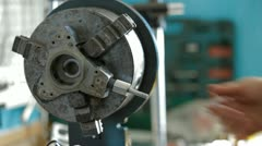 Clearing Of Machine Parts Stock Footage